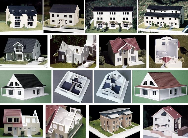 Diverse Hausmodelle ...