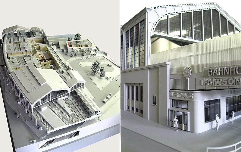 Tränenpalast und Bahnhof Friedrichstrasse Berlin Modell_10