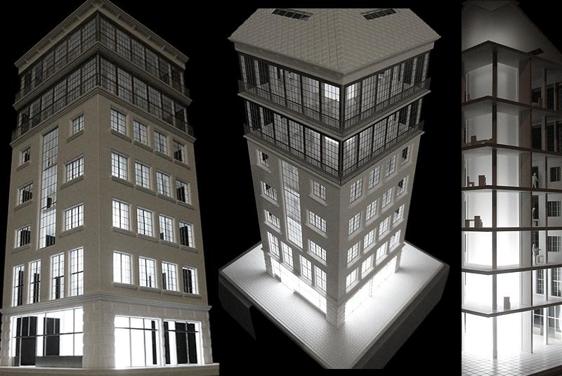 Fabrikgebäude Modell