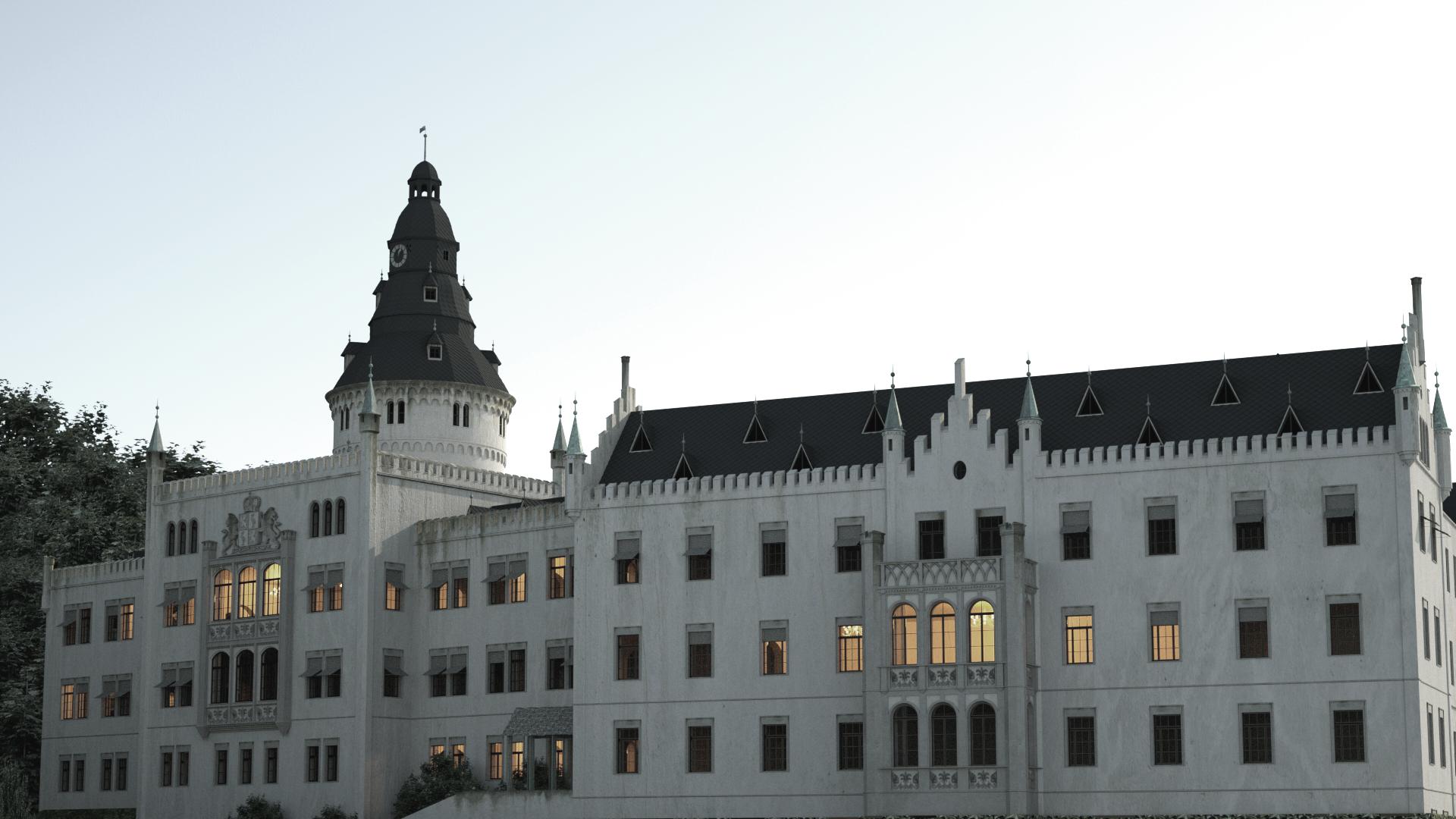 Schloss Osterstein zu Gera um 1920__4